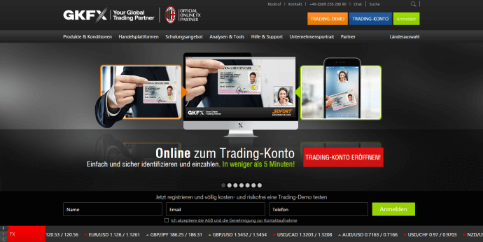 Die GKFX Website