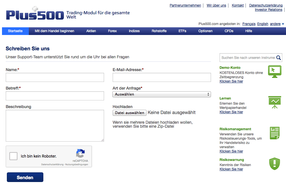 Bei Plu500 stimmt das Service-Angebot