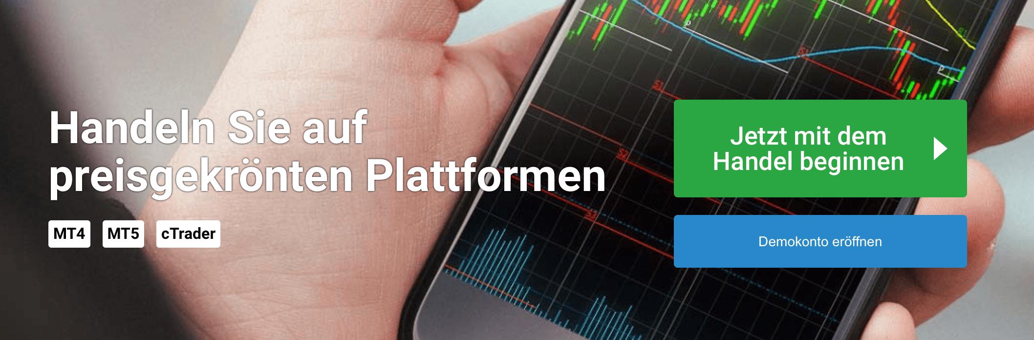Bei FxPro sind verschiedene Plattformen verfügbar - und darüber hinaus auch ein Demokonto