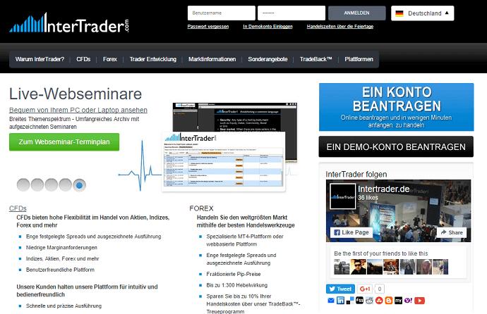 InterTrader Erfahrungen von Brokervergleich.net