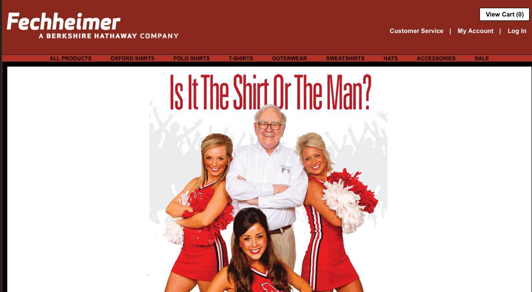 Selbst eine Bekleidungs-Marke nennt Warren Buffet sein Eigen