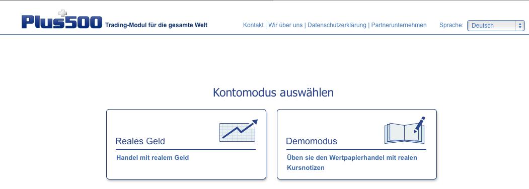 Demo Plus500