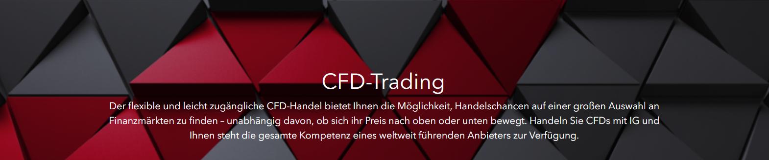 IG bietet flexiblen und leicht zugänglichen CFD- Handel an