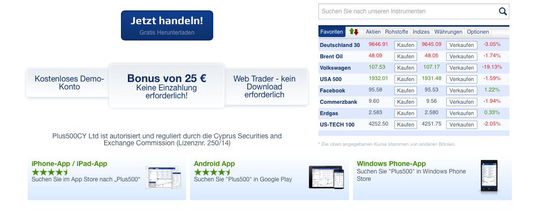 25€ Bonus - ohne Wenn und Aber