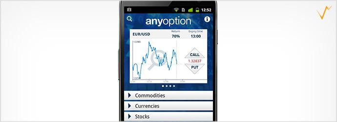 Die anyoption App für mobilen Handel