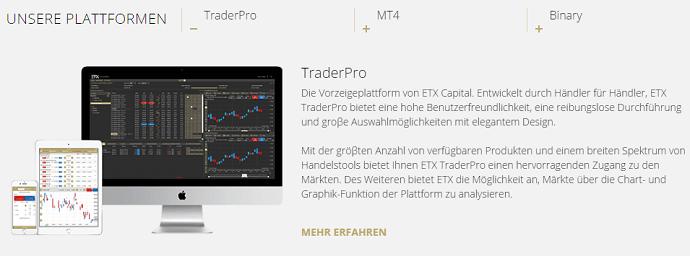 ETX Capital Handelsplattformen