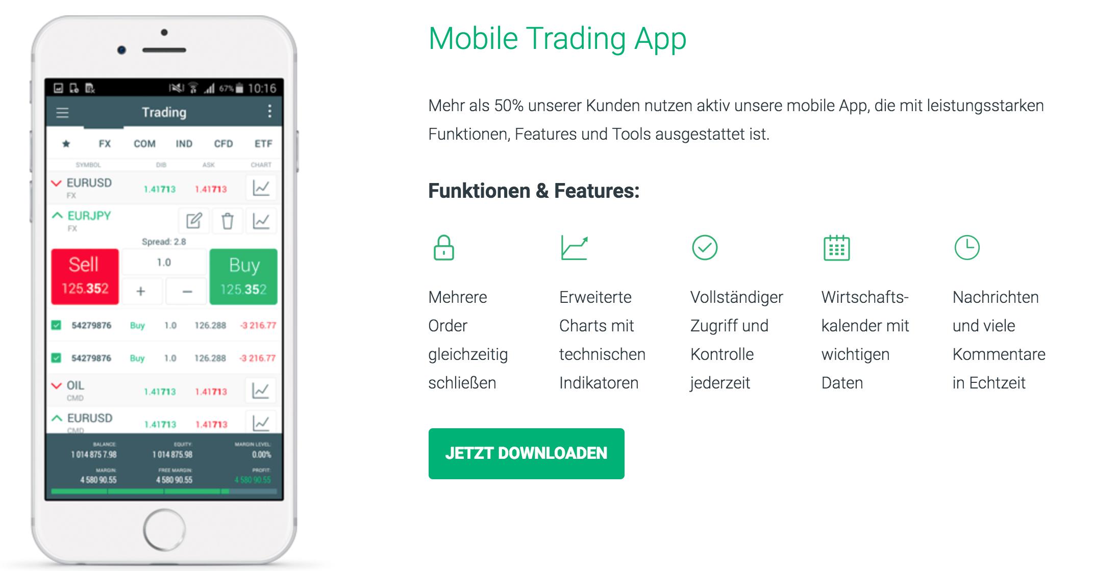 XTB bietet verschiedene Handelsplattformen und auch praktische Trading-Apps