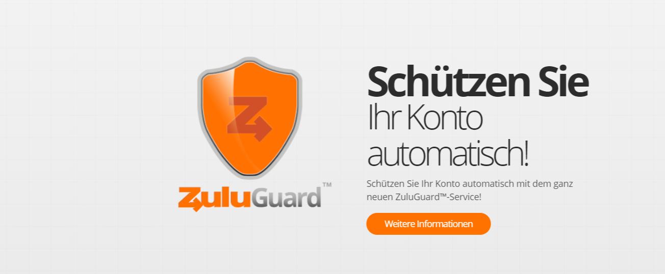 ZuluTrade bietet den ZuluGuard für den optimalen Schutz an