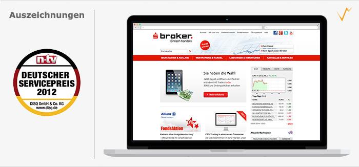 Die Website von s-Broker