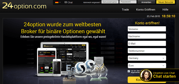 Der Broker 24option.