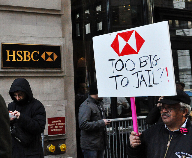 Demonstration gegen die HSBC - Bank