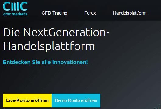 Bei CMC Markets handeln Trader über die Plattform NextGeneration.