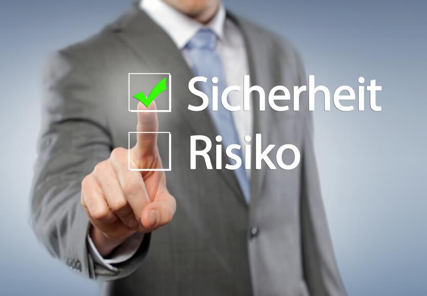 Unserer Meinung nach zeichnet sich der optimale Anlageweg nicht durch Risiko aus, sondern durch Sicherheit.