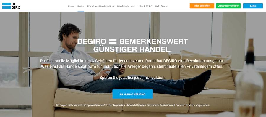 Auch bei DEGIRO können Trader bemerkenswert günstig handeln