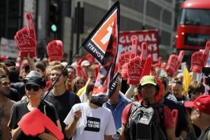 Proteste gegen TTIP in ganz Europa