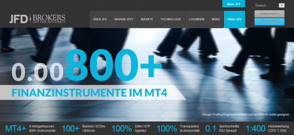 JFD Brokers Finanzinstrumente