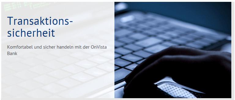 Transaktionssicherheit bei der OnVista Bank