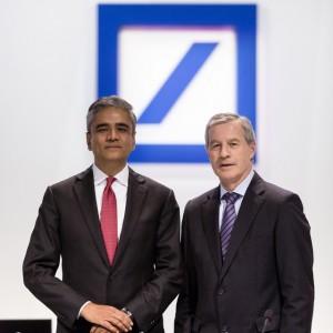 Deutsche-Bank-Chefs Jain (l.) und Fitschen wollen nun das Vertrauen der Kunden, Aktionäre sowie der gesamten Gesellschaft zurückgewinnen. Bildquelle: Pressebereich Deutsche Bank