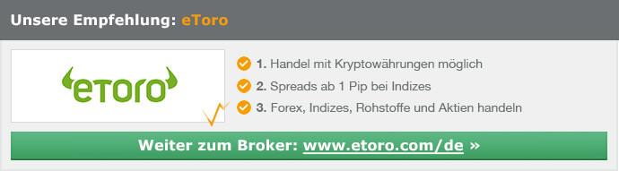 eToro - Handelskonto schon ab 50 €