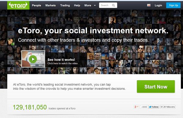 eToro Anbieter von Social Trading