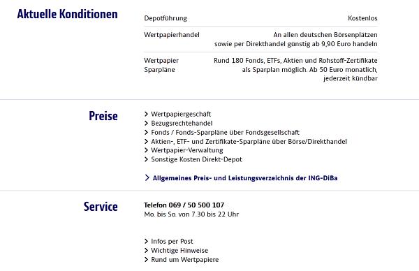 Ing Diba Ordergebühren 2019 Alle Gebühren Kosten Konditionen