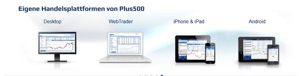 Die Handelsanwendungen bei Plus500