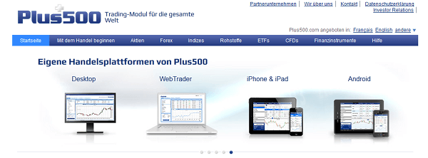Plus500 als vollregulierter Broker