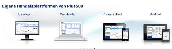 Plus500 mobiler Handel
