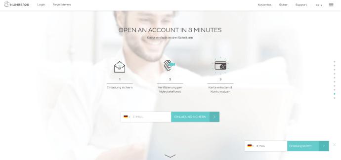 Um die App nutzen zu können, müssen Kunden zunächst ein Konto eröffnen