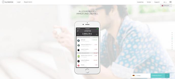 Number26 punktet durch sein Mobile-Banking-Angebot