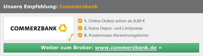 Commerzbank - Online Orders schon ab 9,90 €
