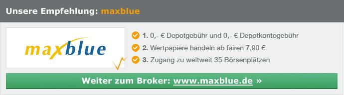 maxblue - Zugang zu 35 Börsenplätzen