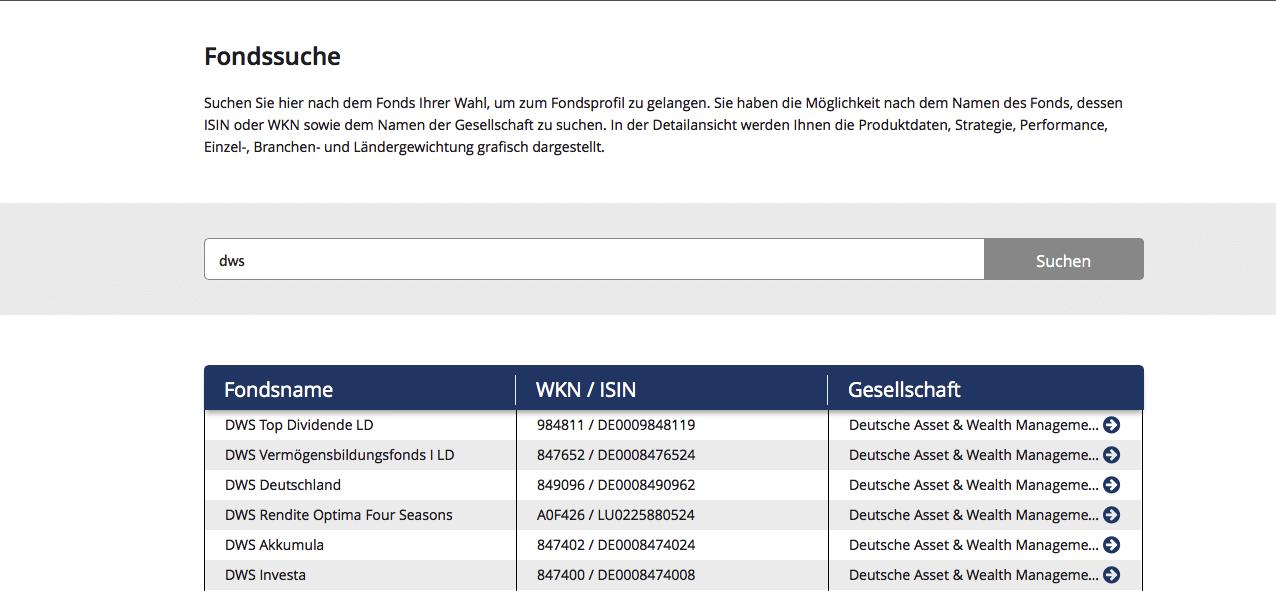 benk bietet eine sehr gute Fond-Suche auf dem Webauftritt an