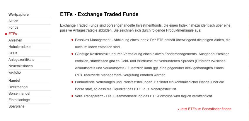 ETFs SBroker