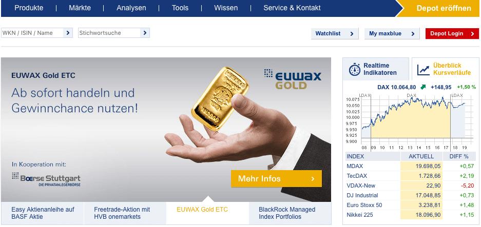 EUWAX Gold Maxblue