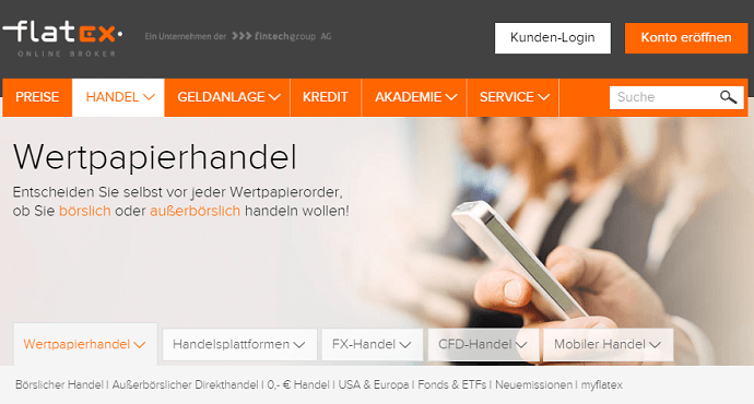 Flatex Wertpapierhandel