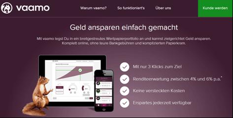 Die Vaamo Homepage