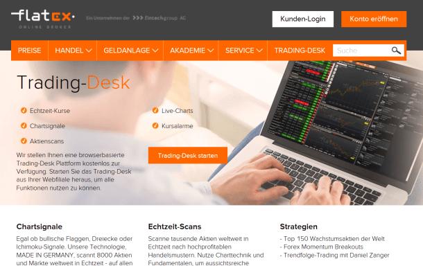 Zahlreiche Features stehen Kunden von Flatex zur Verfügung
