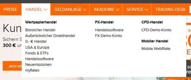 flatex bietet breites Handelsportfolio.