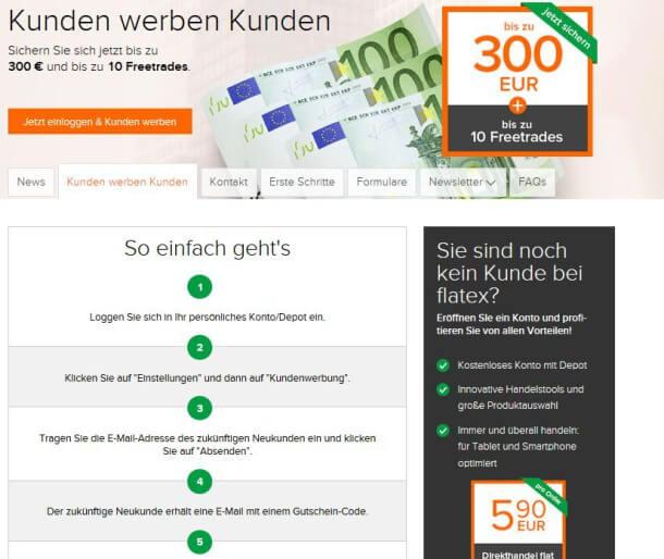 Flatex Gutschein: Bonus sichern & kostenlos traden
