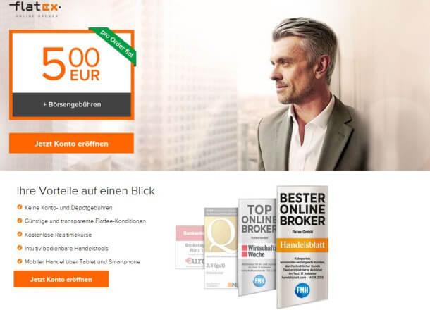 flatex: Faires Gebühren- und Kostenmodell beim deutschen Broker