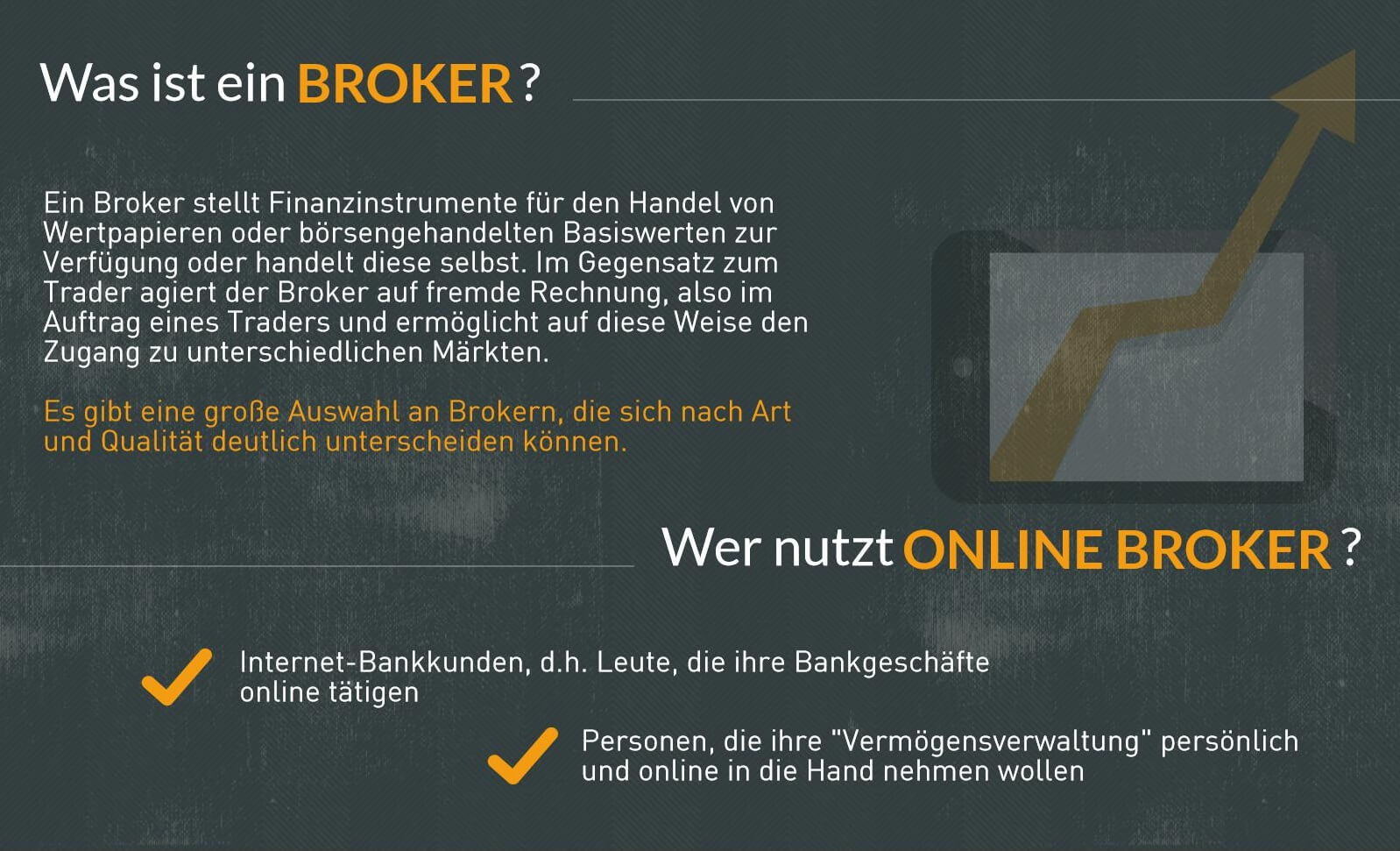 Infografik: Definition Broker