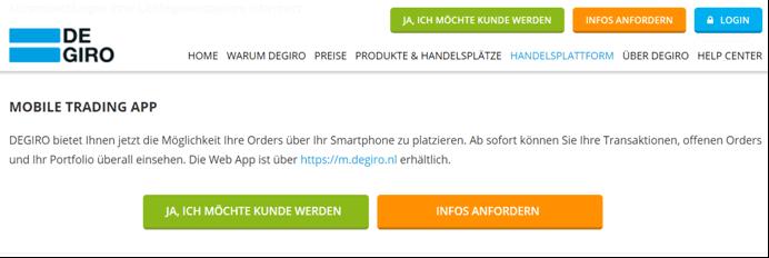 DEGIRO Trading-App