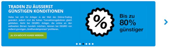 Eines der DEGIRO Markenzeichen ist der günstige Handel