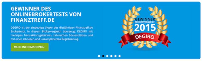 DEGIRO überzeugte auch im Onlinebrokertest.