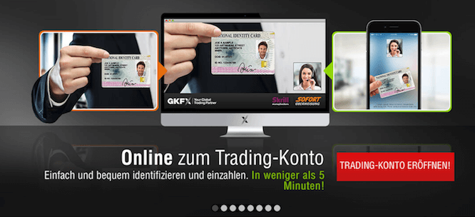 In weniger als 5 Minuten ist das Handelskonto bei GKFX verifiziert