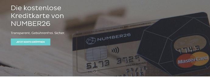 kostenlose NUMBER26 Kreditkarte