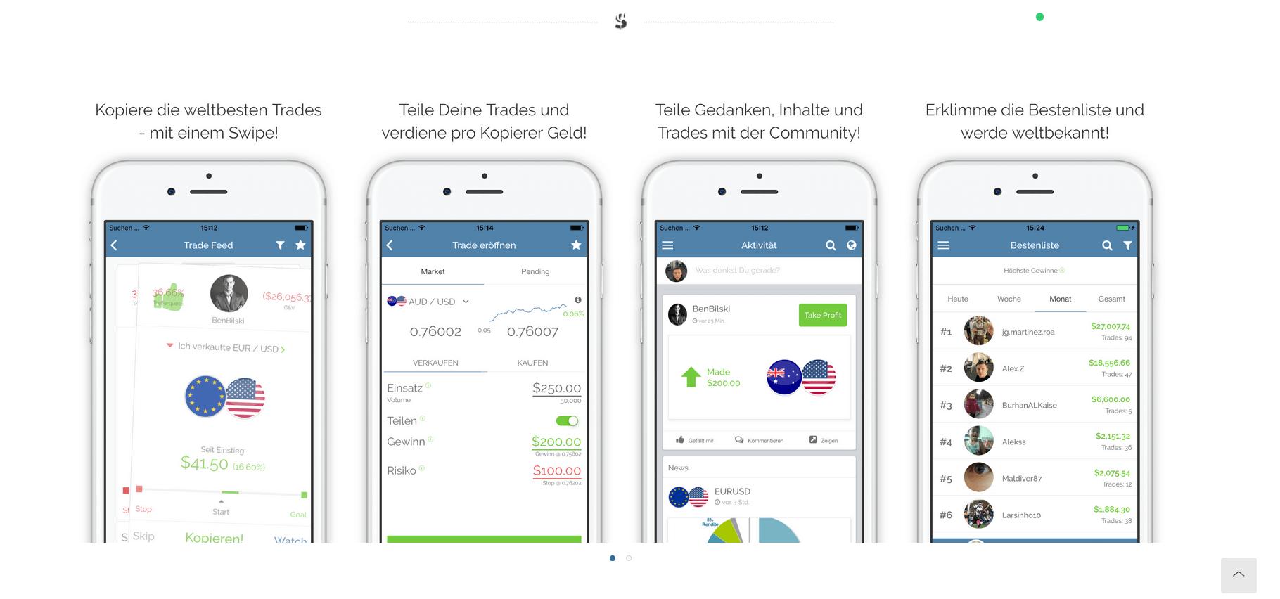 Die App von SwipeStox