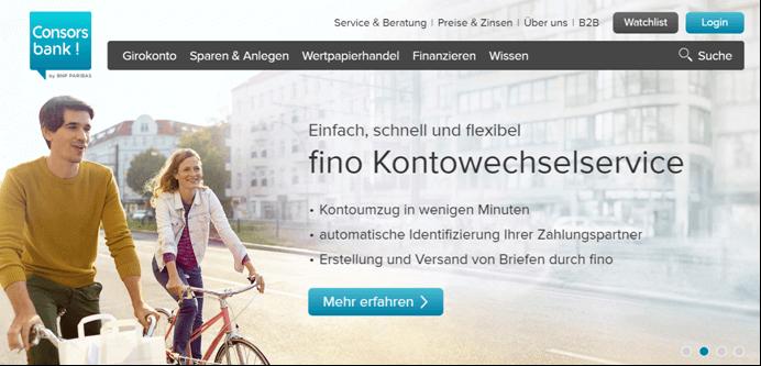 Consorsbank Kontowechselservice