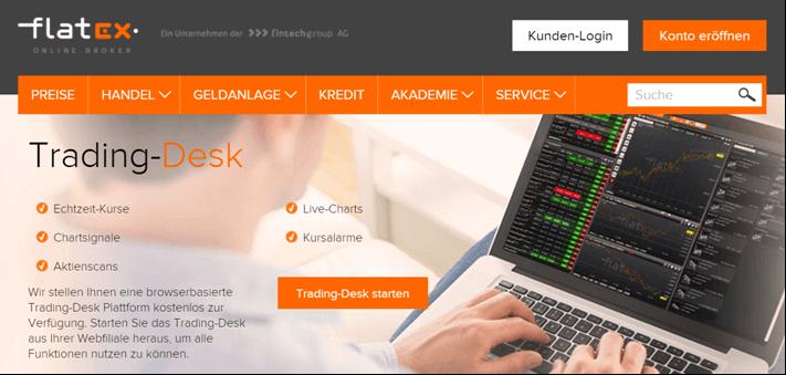 Flatex Trading-Desk